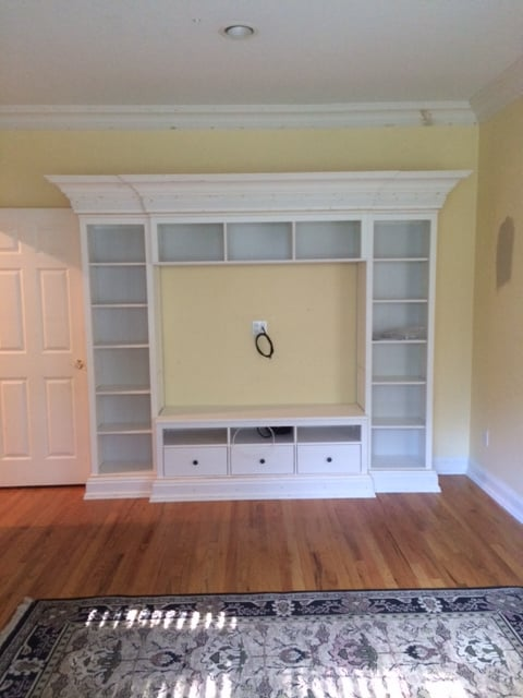 HEMNES entertainment unit with crown molding
