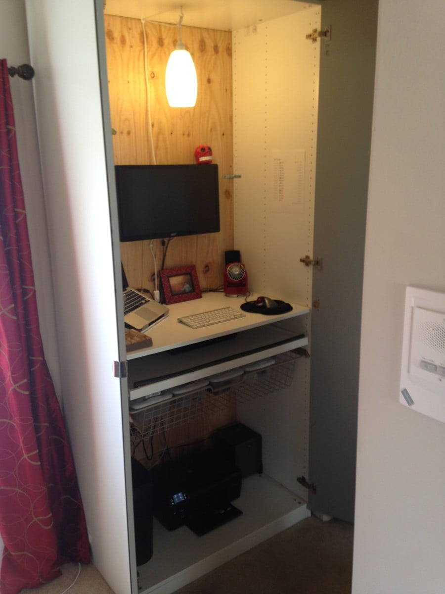 A standing desk built into the pax wardrobe ikea hackers for Email ikea com
