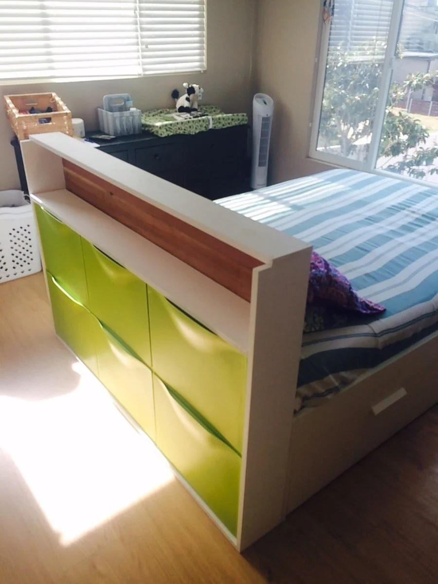 TRONES storage + headboard! IKEA Hackers