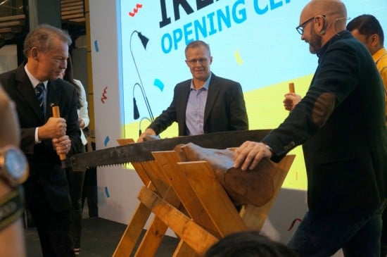 IKEA Cheras log cutting ceremony