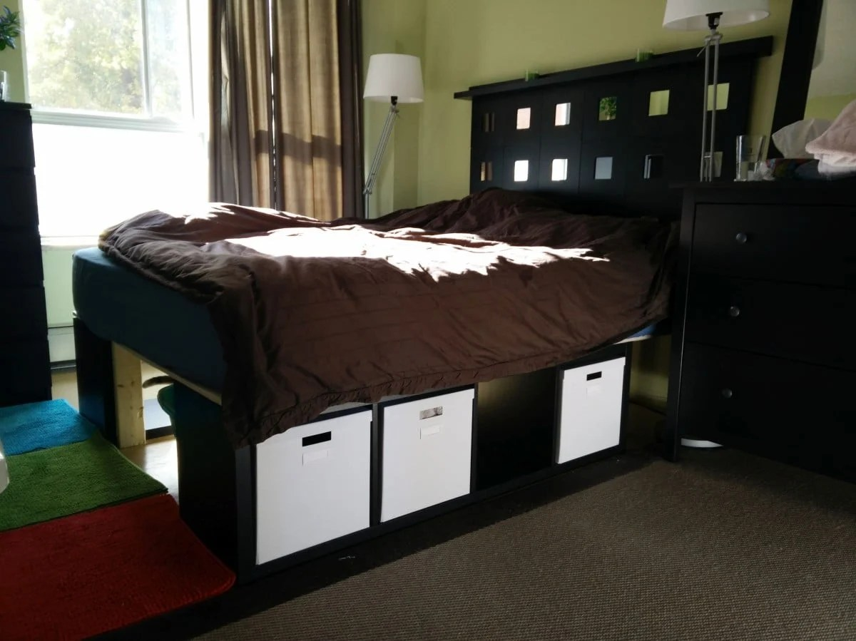kallax storage bed and malma headboard ikea hackers. Black Bedroom Furniture Sets. Home Design Ideas