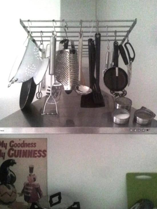 IKEA GRUNTAL rack as a pot hanger