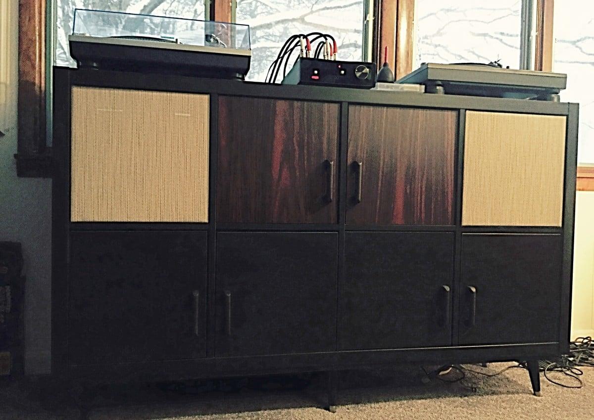 Ikea Kallax Credenza : Ikea kallax to mid century modern hifi console hackers