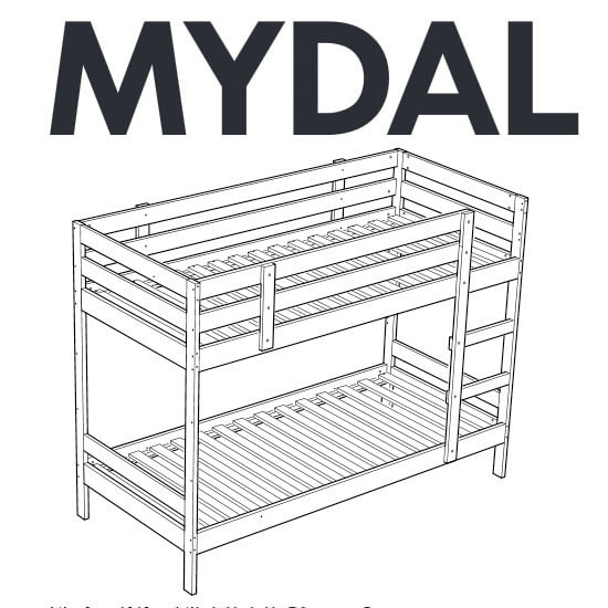 Fresh IKEA MYDAL bunk bed