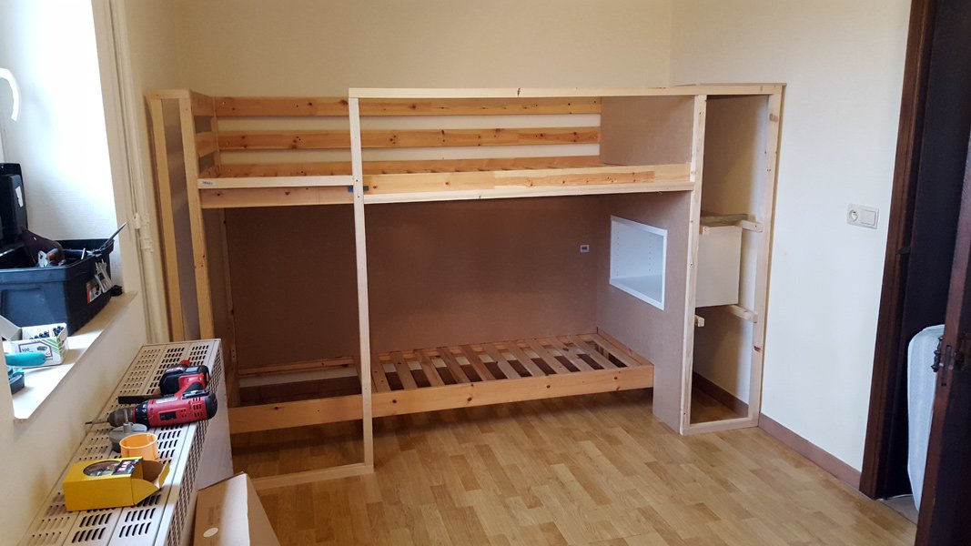 Great Assemble the bunk bed