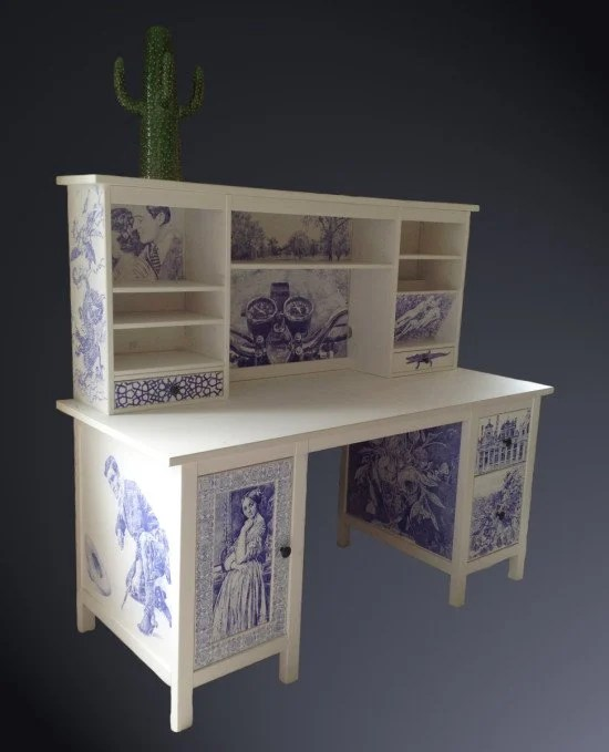 HEMNES with Delft pottery effect
