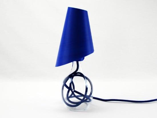 3D printed lamp - side