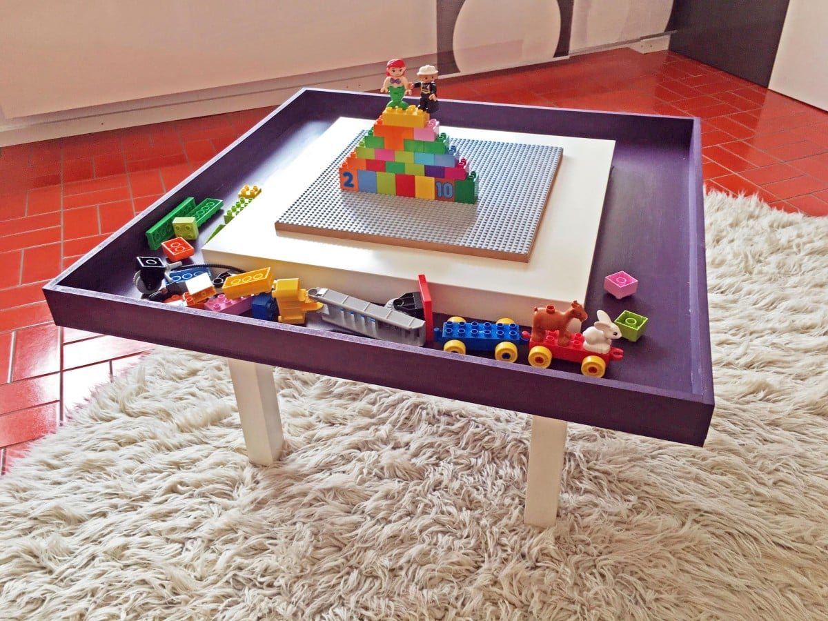 lego table with tray ikea hackers. Black Bedroom Furniture Sets. Home Design Ideas