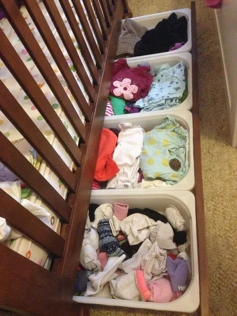I Allow The Feet Of The Crib To Be The Drawer Guide, Which Leads To Some  Wiggling Of The Drawer (and Some Chafing On The Wood), But It Slides Back  In So ...