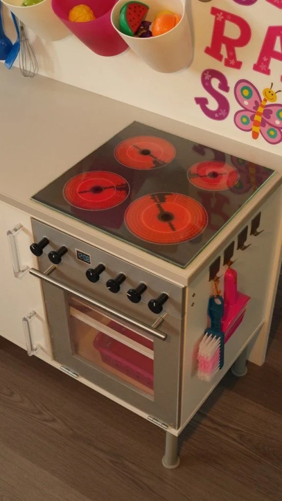 Ceramic hob for the play kitchen