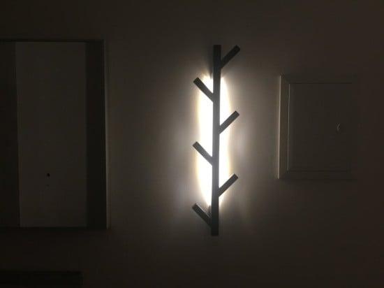 IKEA TJUSIG hanger with DIODER backlight