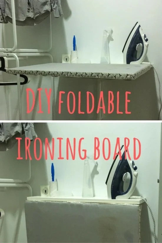 DIY foldable ironing board