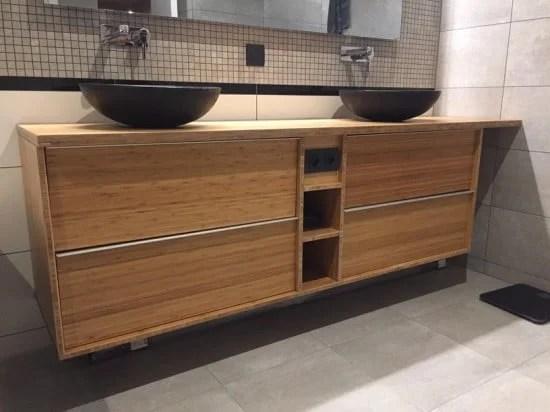 Custom bamboo bathroom furniture with GODMORGON