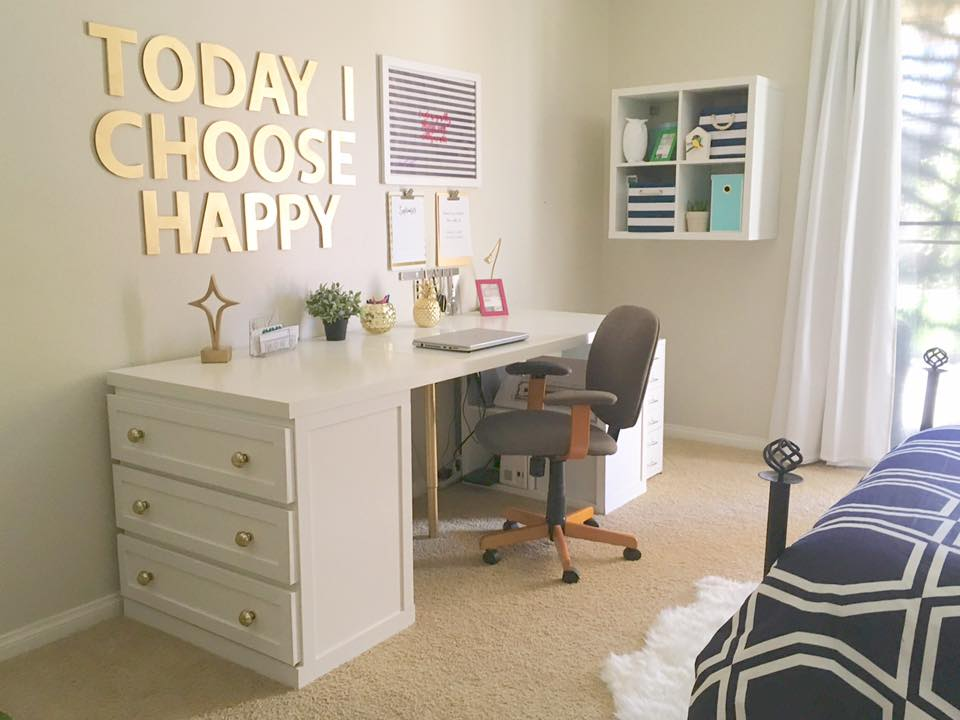 My Glam Malm Desk Ikea Hackers