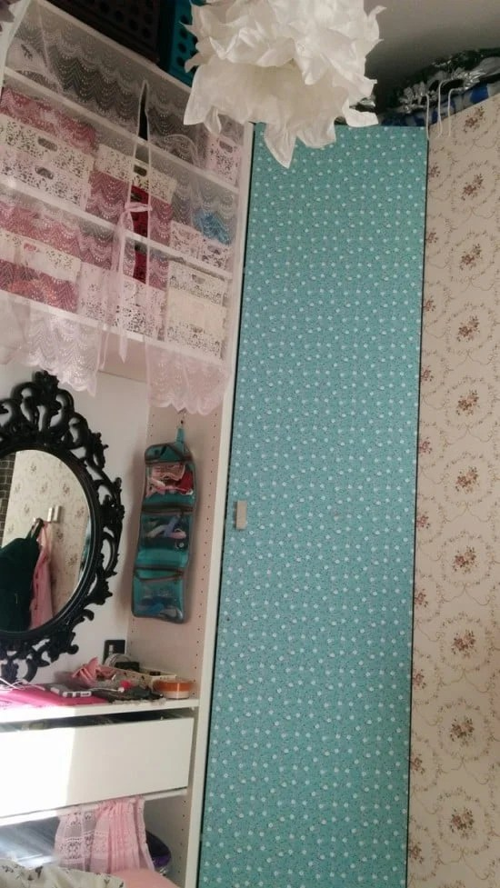 This wardrobe hides a vanity