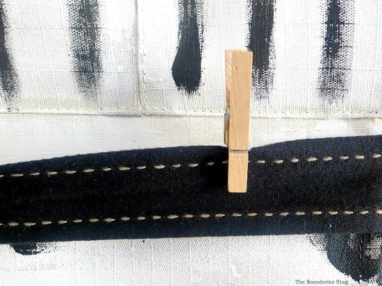 Add ribbons and clothes pegs for the school organizer