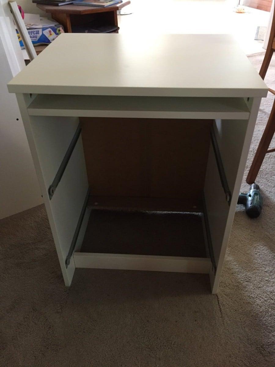 Long Wooden Home Office Study Bench Desk Ikea Hackers