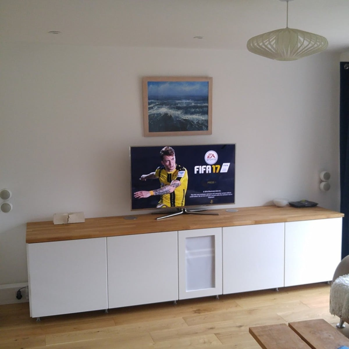 ikea metod cabinets into av unit ikea hackers. Black Bedroom Furniture Sets. Home Design Ideas