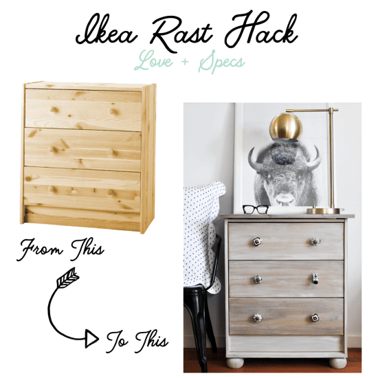 How to hack the IKEA RAST into a driftwood stained nightstand