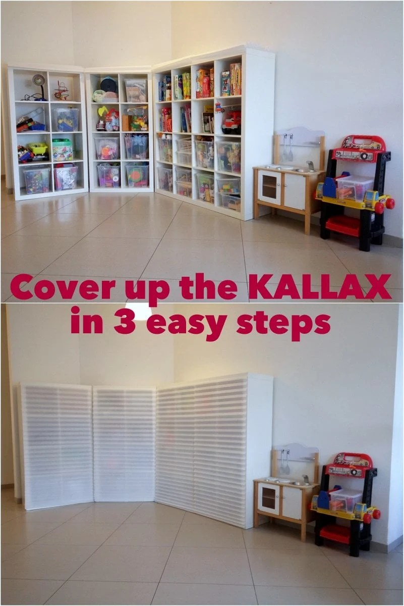 cover up the kallax in 3 easy steps ikea hackers. Black Bedroom Furniture Sets. Home Design Ideas