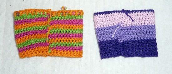 pokal crochet sleeve for glass