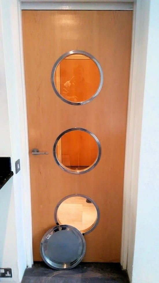 Portholes from IKEA Groggy trays