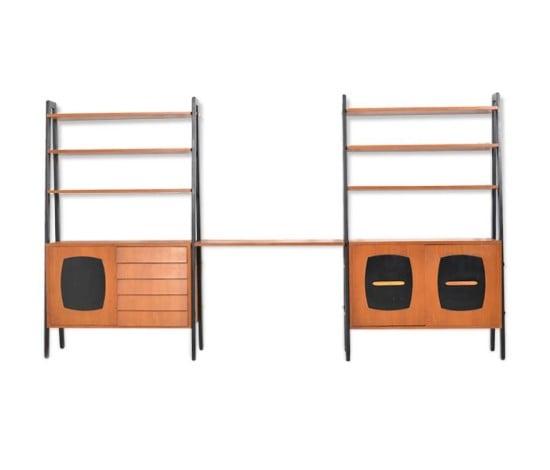 ikea-teak-bookcase