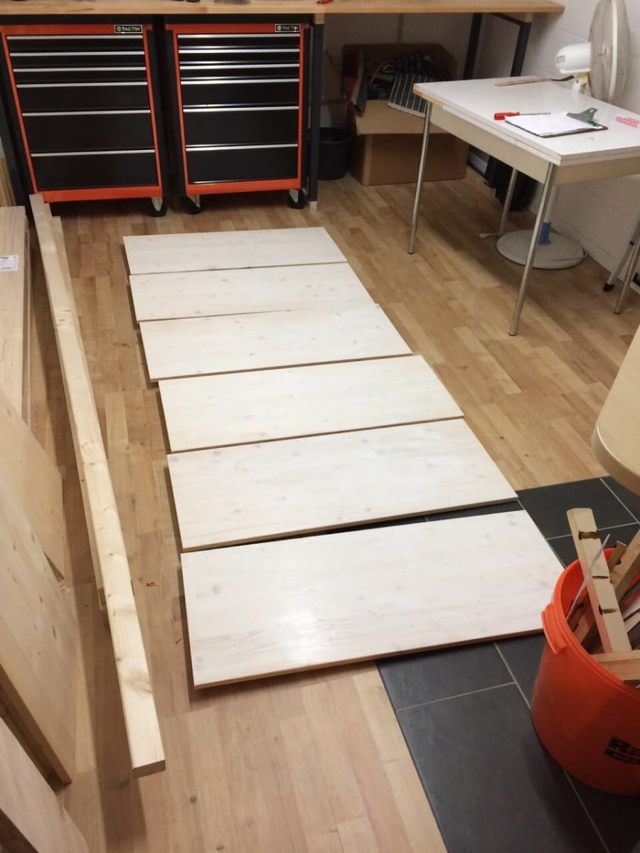 Cut the wooden boards to size