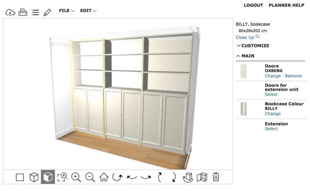 BILLY built-in - customize doors