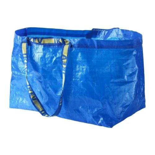 IKEA FRAKTA blue bag