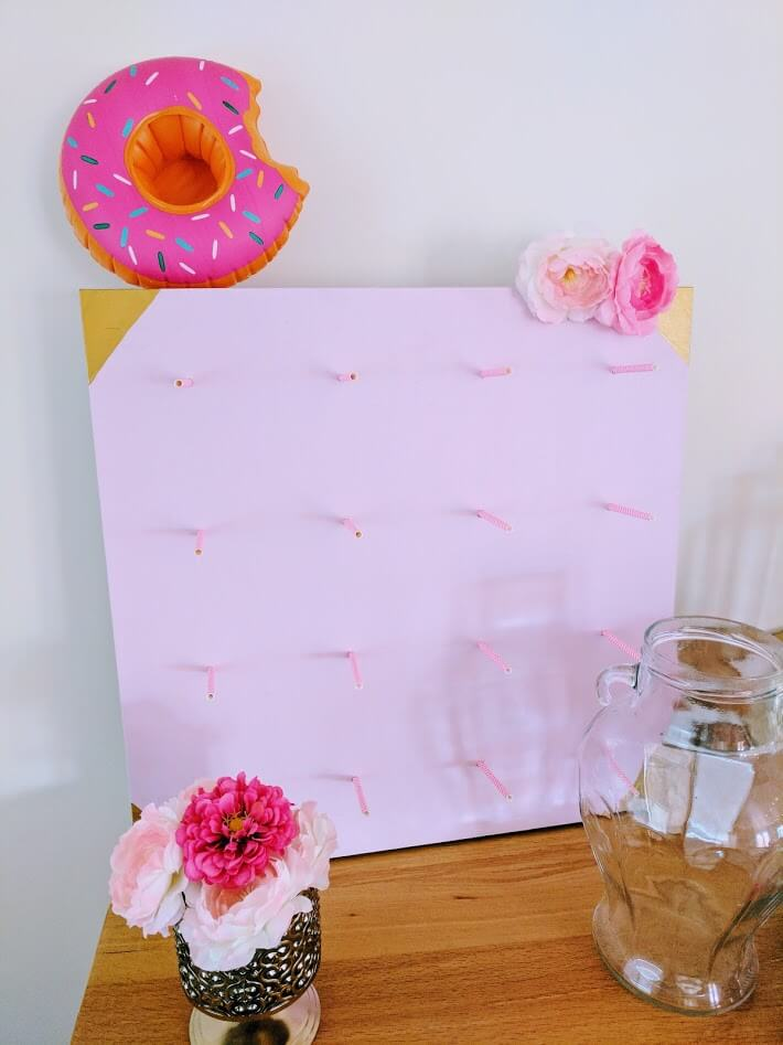 Donut bar stand with rods for donuts