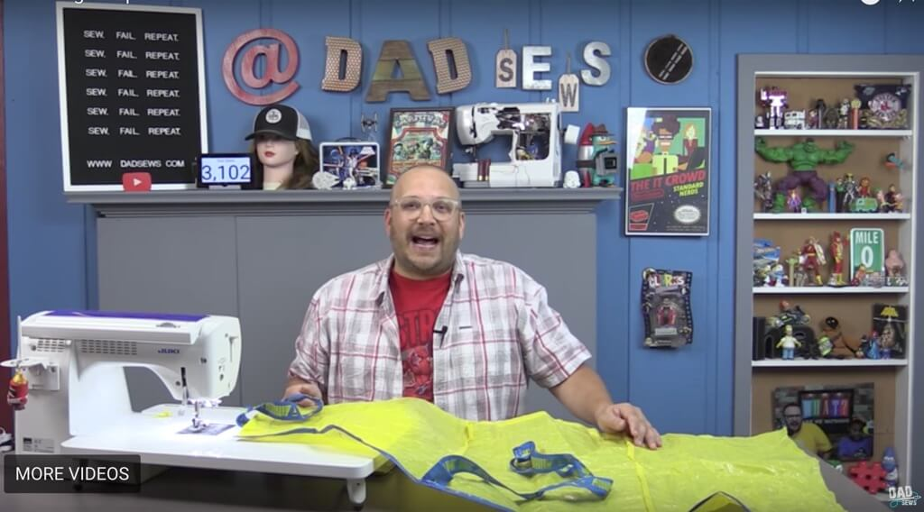 Stain-proof men's apron from 2 FRAKTA bags DIY