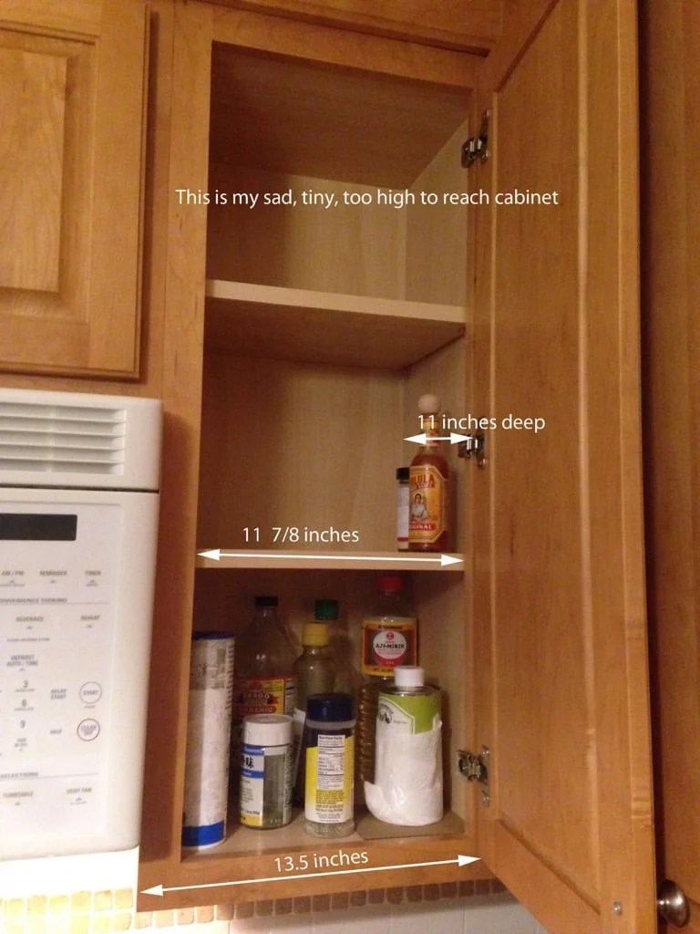 We Bought And Tried The Rubbermaid Pull Down Spice Rack, Which Fits  U201cstandardu201d Sized Cabinets, But It Was Just Too Big For Our Cabinet.