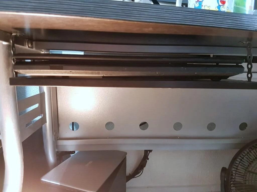 $15 Underdesk laptop shelf mount