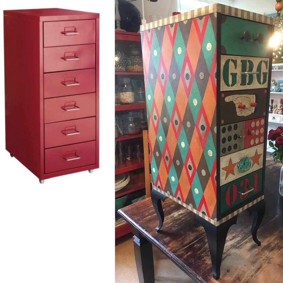 HELMER metal cabinet circus style