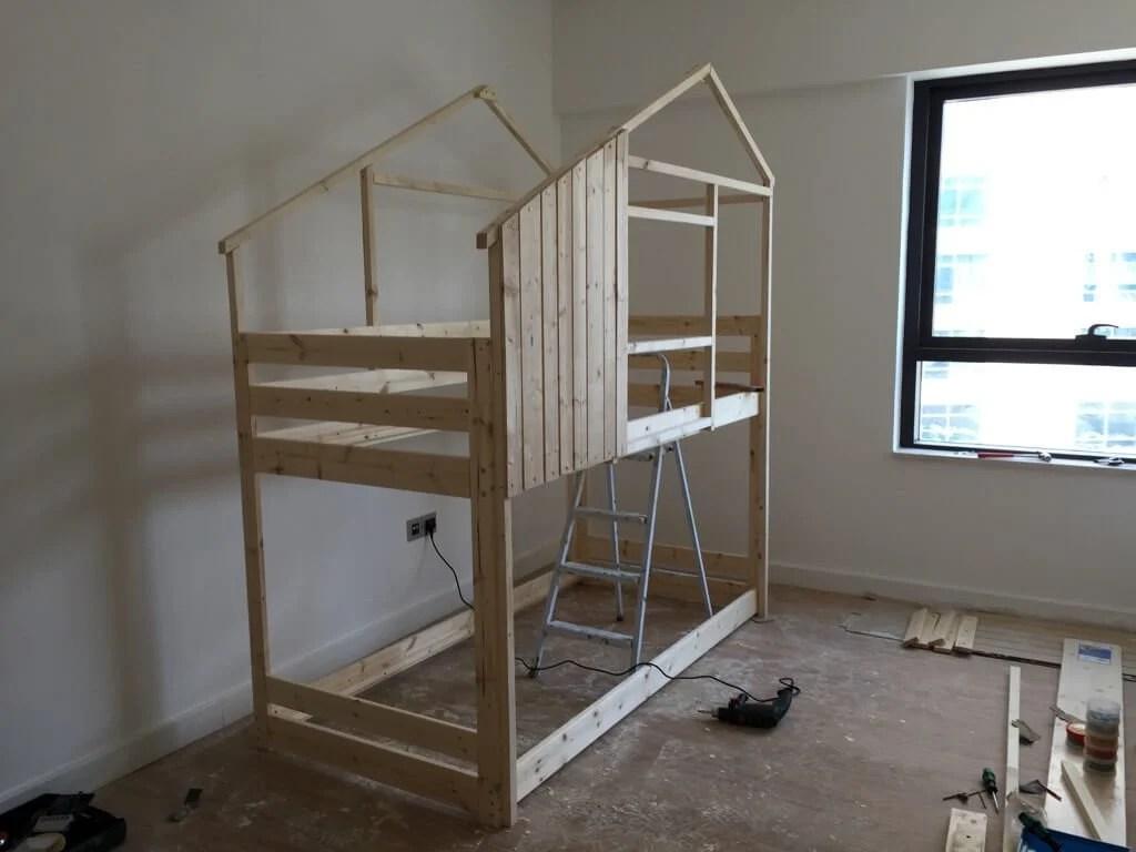 Indoor playhouse cladding