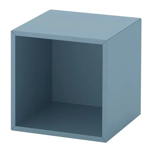 turn the eket cube into a hairpin leg nightstand ikea hackers. Black Bedroom Furniture Sets. Home Design Ideas