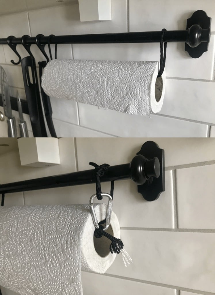 IKEA fintorp paper towel holder hack