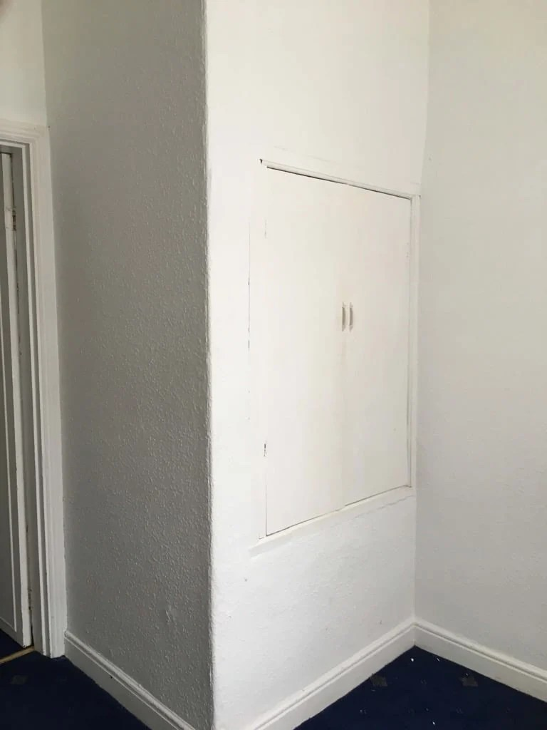 Old wardrobe - before