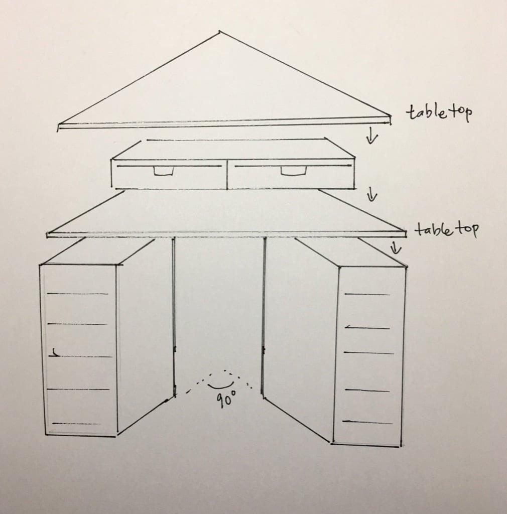 Corner desk solution