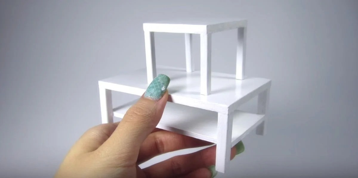 Dollhouse furniture LACK coffee table
