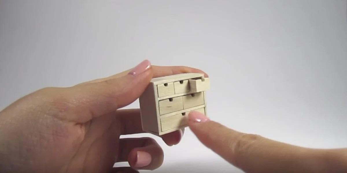 Dollhouse furniture IKEA MOPPE storage chest