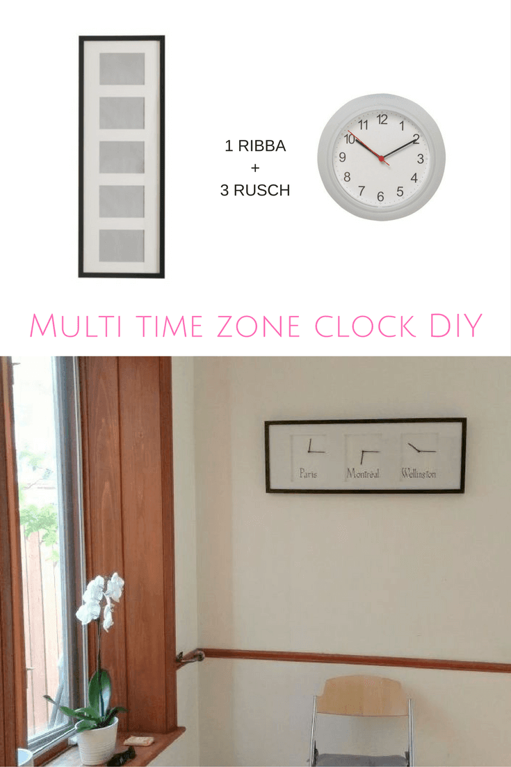 Make A Multi Time Zone Clock With Ribba Rusch Ikea Hackers