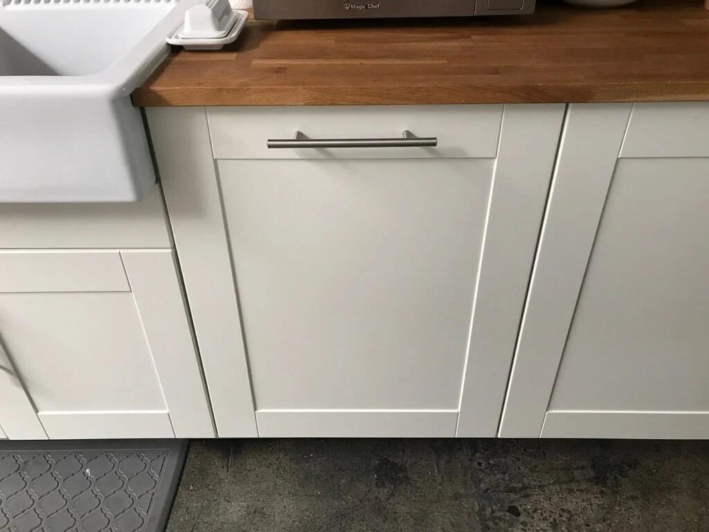 IKEA SEKTION kitchen - recycling drawer closed