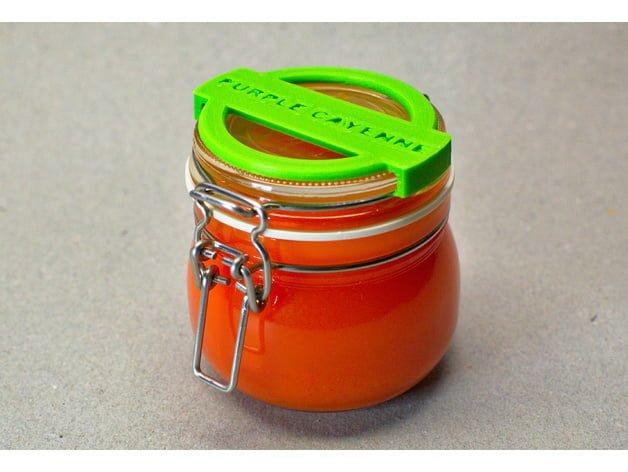 IKEA KROKEN 3D printed jar label