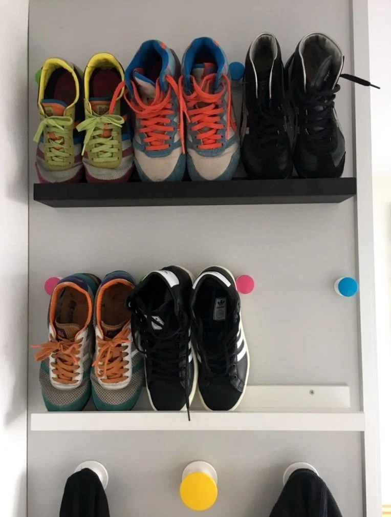 Shoe shelf for small spaces