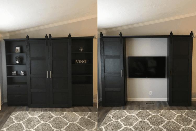 barn doors for entertainment system