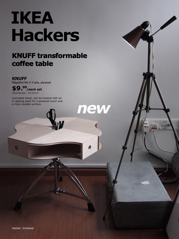 knuff transformable coffee table ikea hackers. Black Bedroom Furniture Sets. Home Design Ideas