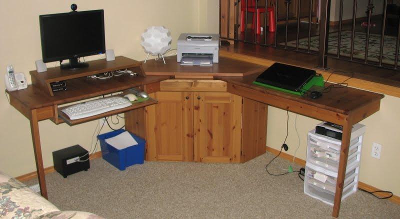 Kitchen table alve diktad corner computer desk ikea hackers - Kitchen work tables ikea ...