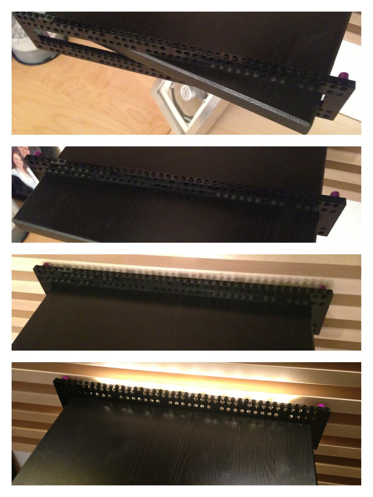 indirect lighting for mandal headboard using lego ikea hackers. Black Bedroom Furniture Sets. Home Design Ideas